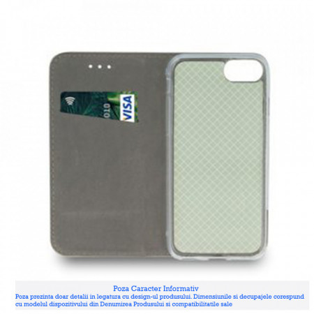 Husa Carte Smart Magnetic Samsung Galaxy Note 10 Lite / A81, Green