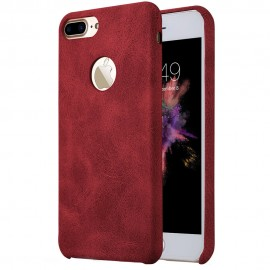 Huse Coffee Lether PU pentru Apple iPhone 7 Plus, Red