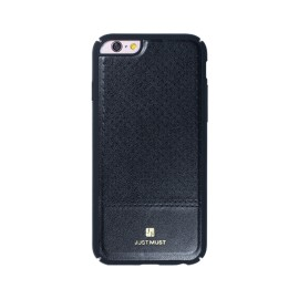 Husa iPhone 6 / iPhone 6S Apple Just Must Carve Black (protectie margine 360°)