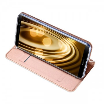 Husa Leather Flip DD, Huawei Mate 10 Lite, Rose-Gold