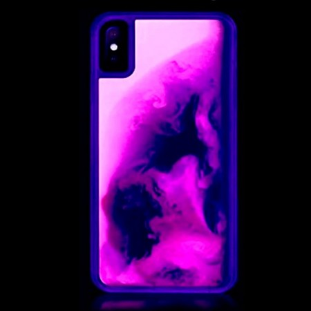 Huse Neon Apple iPhone X/XS, Glow In The Dark, Ice Neon