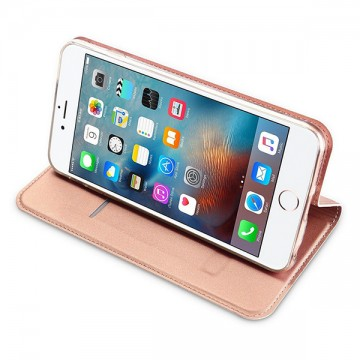 Poze Husa Leather Flip DD, iPhone 6 / 6S, Inchidere Magnetica, Rose