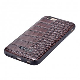 Husa iPhone 6 / 6S Apple Comma Croco Brown (piele naturala cu margini flexibile)
