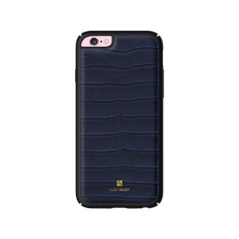 Husa iPhone 6 / iPhone 6S Apple Just Must Croco Navy (protectie margine 360°)