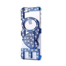 Husa Luxury LOVE pentru Apple iPhone 6 / iphone 6S elegant - Blue