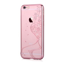 Husa iPhone 6/6S Devia Crystal Secret Garden Crystal Rose Gold (Cristale Swarovski®)