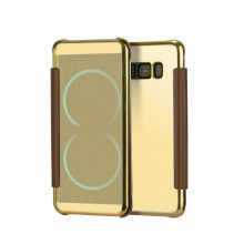 Husa Book Mirror Samsung S8 Gold