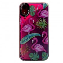 Huse Neon Apple iPhone X/XS, Glow In The Dark Flamingo