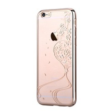 Husa iPhone 6/6S Devia Crystal Secret Garden Crystal Champagne Gold (Cristale Swarovski®)