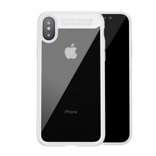 Husa Baseus Originala Matte Frame, iPhone X/10, White