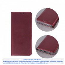 Husa Carte Smart Magnetic Samsung Galaxy Note 10 Lite / A81, Burgundy