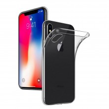 Husa iSilicon, Ultra Slim, Jelly pentru iPhone X, Transparent