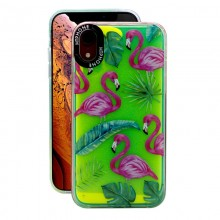 Huse Neon Apple iPhone X/XS, Glow In The Dark, Flamingo