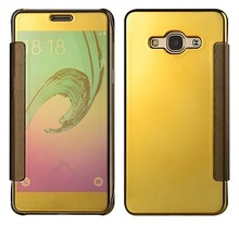 Husa Clear View Mirror Samsung J7 - 2015 Gold