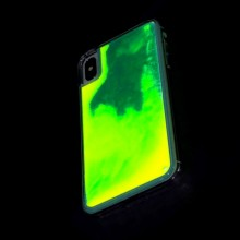 Huse Neon Apple iPhone X/XS, Glow In The Dark, Leopard