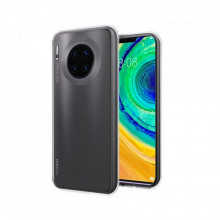 SET 1x Husa silicon Huawei Mate 30 Pro, Transparent SI 1x Folie sticla securizata 3D Huawei Mate 30 Pro, TPU, Htphone
