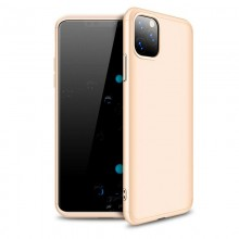 Husa 360° Matte Full Protection - Apple iPhone 11 - Gold - (fata + spate + folie de protectie din sticla)