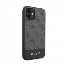 Husa iPhone 11 Guess 4G Stripe Collection Grey