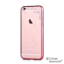 Husa iPhone 6/6S Rose Devia Crystal Vivid Gold (Cristale Swarovski®, electroplacat, protectie 360)