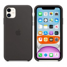 Husa Silicon Apple iPhone 11, Neagra, Blister MWVU2ZM/A