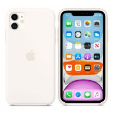 Husa Silicon Apple iPhone 11, Alba, Blister MWVX2ZM/A