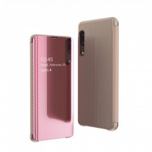 Husa compatibila Huawei P30 Lite Flip Grid View Cover - Pink