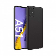SET 1x Husa silicon Samsung Galaxy A51 SI 1x Folie sticla securizata Samsung Galaxy A51, Black
