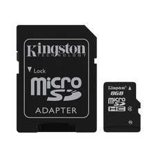 CARD 8GB KINGSTONE Class 4 + Adaptor