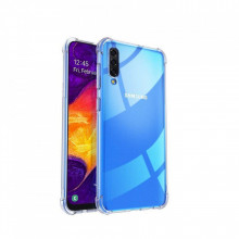 Husa Silicon ANTI-SHOCK Samsung Galaxy A70 0.5mm, spate, Transparenta