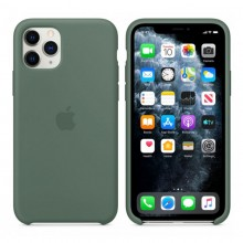 Husa Silicon Apple iPhone 11 Pro, Verde, Blister MWYP2ZM/A