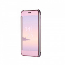 Husa Tip Carte Mirror Clearview, Samsung Galaxy S7, Rose