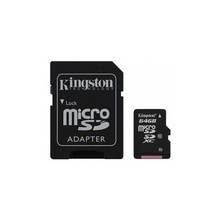CARD 64GB KINGSTON Class 4 + Adaptor