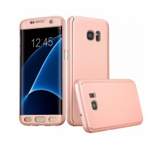 Husa Hard Samsung Galaxy S7 Edge, 360 de grade, Rose