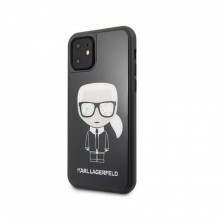 Husa iPhone 11 Karl Lagerfeld Iconic Glitter Black