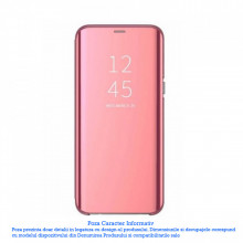 Husa Samsung Galaxy A21S Clear View , Mirror Effect, Rose