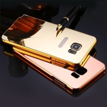 RESIGILAT - Husa Mirror Ultra Slim Luxury Metal Frame pentru Samsung Galaxy Note 5 N9200