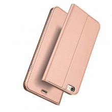 Husa Leather Flip DD, iPhone 6 / 6S, Inchidere Magnetica, Rose