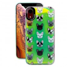 Huse Neon Apple iPhone X/XS, Glow In The Dark Bulldog