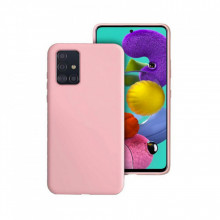 Set 1x Husa silicon Samsung Galaxy A51 si 1x Folie sticla securizata 3D Samsung Galaxy A51, Rose