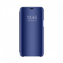 Husa flip cover clear view Huawei P30 Lite, Blue