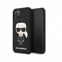 Husa iPhone 11 Pro Max Karl Lagerfeld Silicone Iconic Neagra