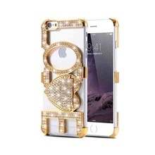 Husa Luxury LOVE pentru Apple iPhone 6 / iphone 6S elegant - Gold