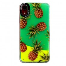 Husa Neon Apple iPhone X/XS, Glow In The Dark, Neon Pineapple
