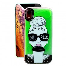 Huse Neon Apple iPhone X/XS, Glow In The Dark Girl boss