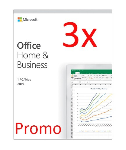 Microsoft Office Home and Business 2019 PC/MAC, All languages, FPP, BOX - 3 licente