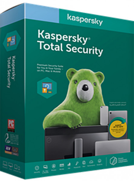Kaspersky Total Security 5 Dispozitive, 2 ani, Reinnoire, Licenta Electronica