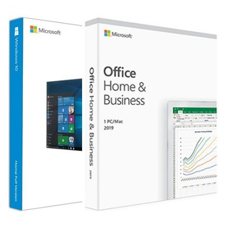 Windows 10 Home, BOX OEM & Microsoft Office Home and Business 2019 BOX