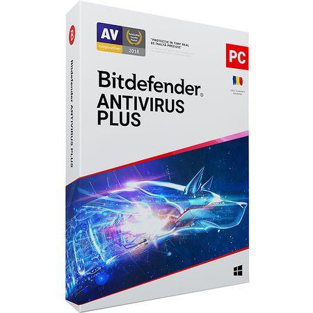 Bitdefender Antivirus Plus 2021, 1 dispozitiv, 1 an, licenta electronica