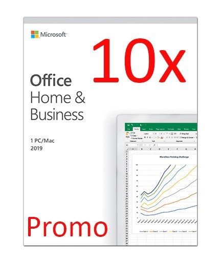 Microsoft Office Home and Business 2019 PC/MAC, All languages, FPP, BOX - 10 licente