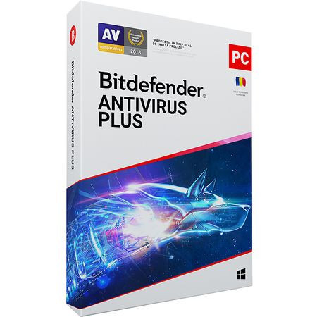 Bitdefender Antivirus Plus 2021, 3 dispozitive, 1 an - Licenta Electronica